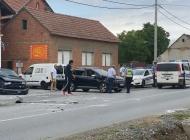 Sudar između dva automobila u Gradcu i dvije ozlijeđene osobe