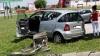"""Udario u """"VW Pola"""" pa nastavio vožnju zelenom površinom rušeći sve pred sobom"""